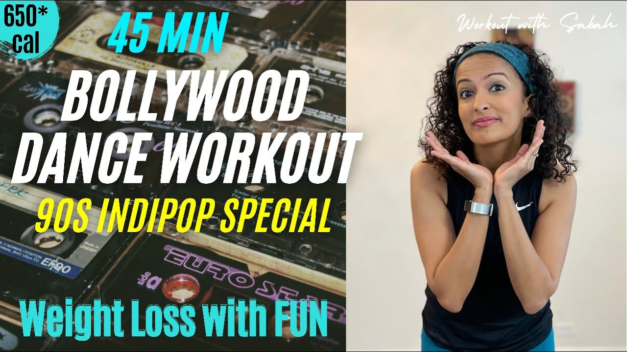 45 minute 90s INDIPOP Bollywood Dance Workout with Sabah | 250-700cal | Weight loss in 2 weeks
