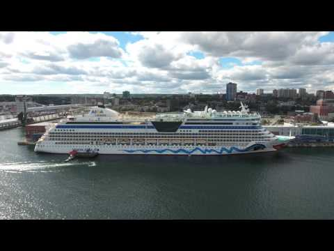 Cruise ships in Halifax Harbour. Scotia Droning