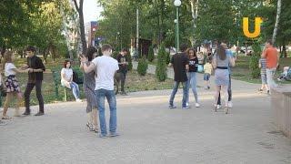 В парке проходят танцевальные уроки