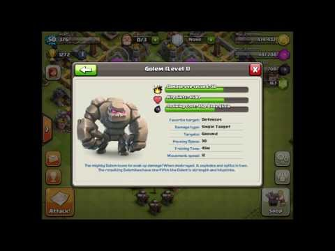 Clash of Clans Level 3 Troop Statistics