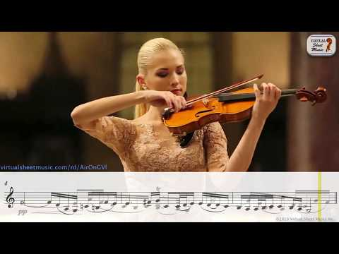 Air On The G String, J. S. Bach - Anastasiya Petryshak - Sheet Music Play Along
