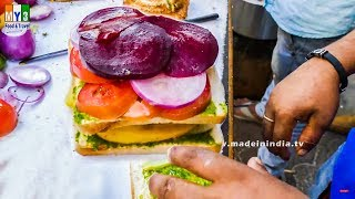 Vegetable Sandwich Recipe | Bombay Veg Sandwich | Step by Step