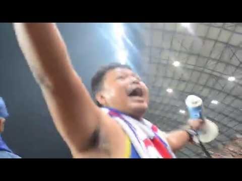 viking persib club eforia bobotoh di stadion sriwijaya jakabaring palembang