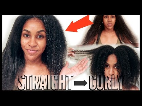 Watch My Natural Hair REVERT With RICE WATER | STRAIGHT To CURLY!|