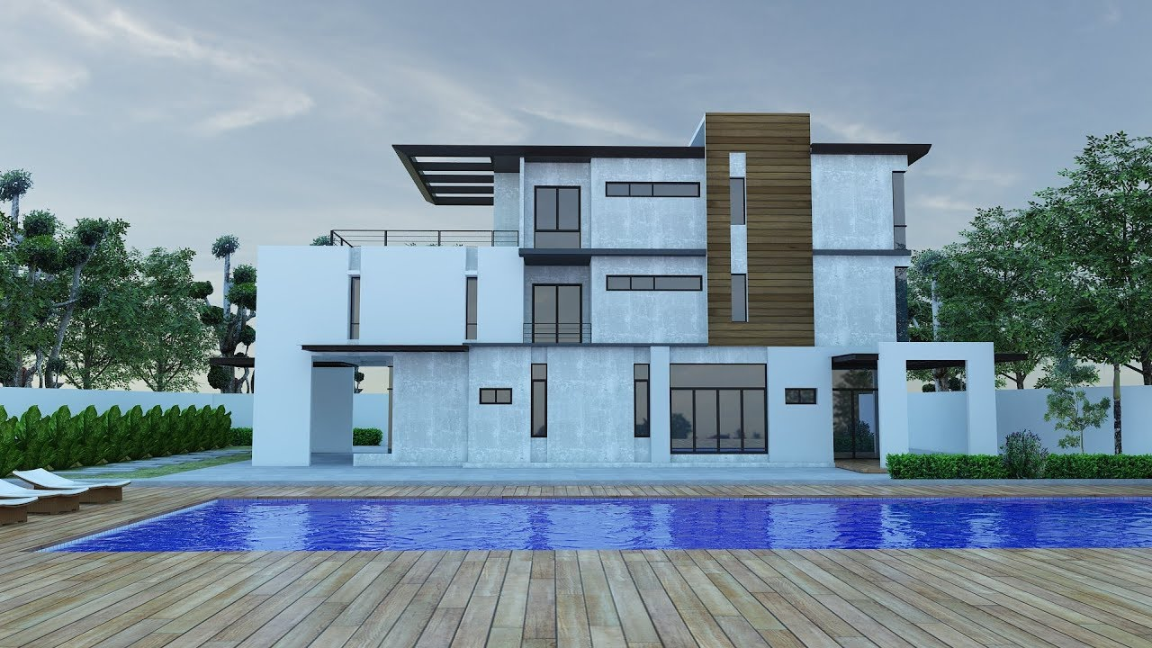 Sketchup Vray Exterior Exterior Rendering Youtube