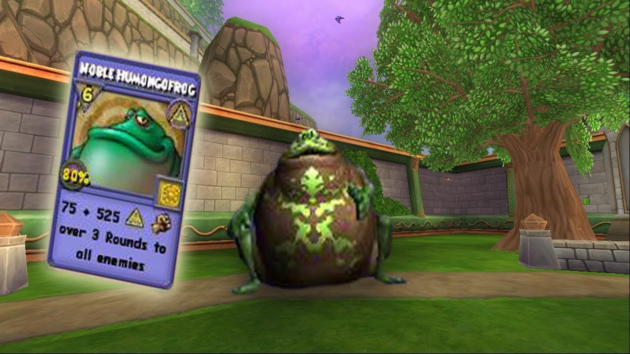 Wizard101 Life-ish frog pet showcase (new empyrea part 2 wandering pets)
