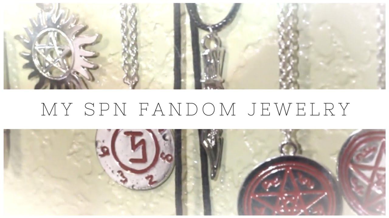 my supernatural fandom jewelry collection youtube