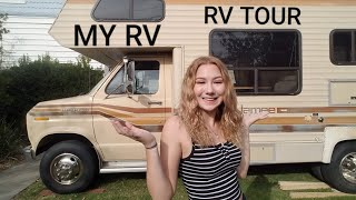 I Bought An RV At 17?! RV tour before remodel