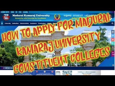 How To Apply For Madurai Kamaraj University Constituent Colleges
