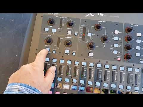 Behringer X32 Mikser Solo Gate Comp Kulanmasi