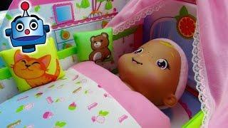 Baño y Cuna en Mi cuarto de bebé - Juguetes de Smoothie Babies