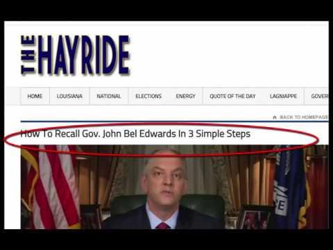 Jindal rapes Louisiana, Jon Bel Edwards scores a recall petition