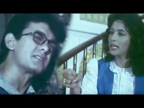 Madhuri Dixit Hurts Aamir Khan | Deewana Mujhsa Nahin | Bollywood Scene