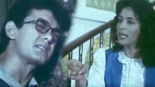 Madhuri hurts Aamir - Deewana Mujhsa Nahin Scene