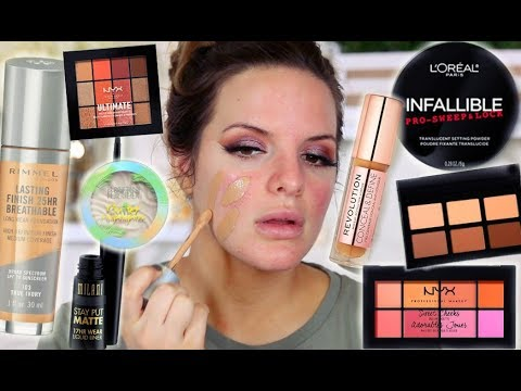 FULL FACE OF FIRST IMPRESSIONS! DRUGSTORE MAKEUP |  Casey Holmes