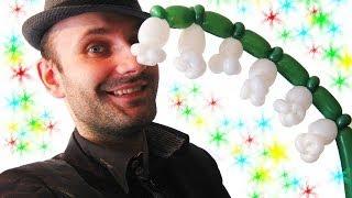 Ландыш из воздушных шариков шдм аэродизайн ★ Lily of the valley of balloons