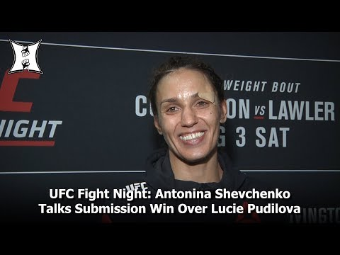 UFC Fight Night: Antonina Shevchenko Talks Submission Win Over Lucie Pudilova In Newark, NJ