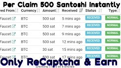 Claim faucet unlimited Faucethub 500 Santoshi instantly Claim unlimited time free claim bitcoin