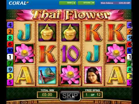 Thai Flower online slot free spins feature (Double!)
