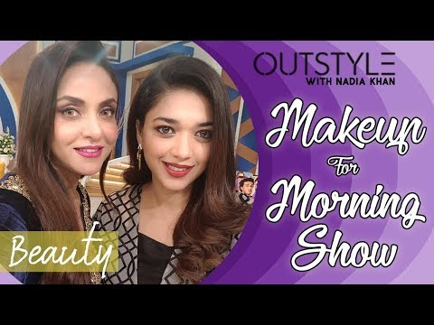 Nadia Khan Makeup Tutorial For Morning Show on Jago Pakistan Jago with Sanam Jung | Outstyle