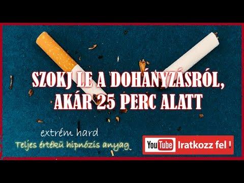 hipnotikus videó hogyan lehet leszokni a dohányzásról ragasztó vakolattal hagyja abba a dohányzást