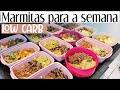 Marmitas low carb para congelar #2 ( CARDÁPIO DA SEMANA SAUDÁVEL ) • Elaine Oliveira •