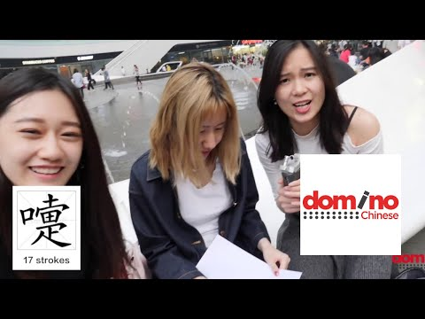 Chinese Writing Test : 写中文 : Domino Chinese New Video!