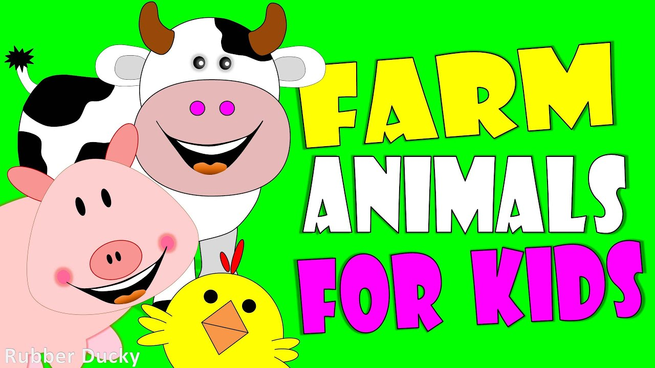 Farm Animals Name And Sound Kids Learning Animal Sounds For