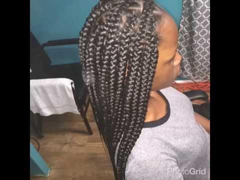 Crochet Box Braids With Rubber Bands : Rubber band Method Jumbo Box Braids - YouTube
