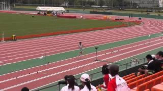 2015 九州インカレ 鹿児島 鴨池競技場 男子 100m 順決勝 第1組