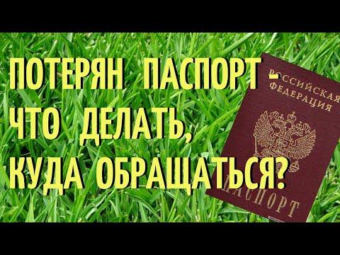 Потерян паспорт -  что делать, куда обращаться