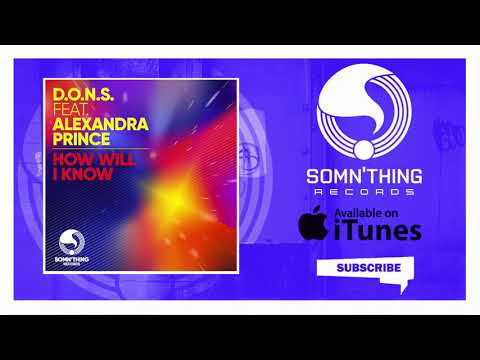 D O N S How Will I Know Featuring Alexandra Prince