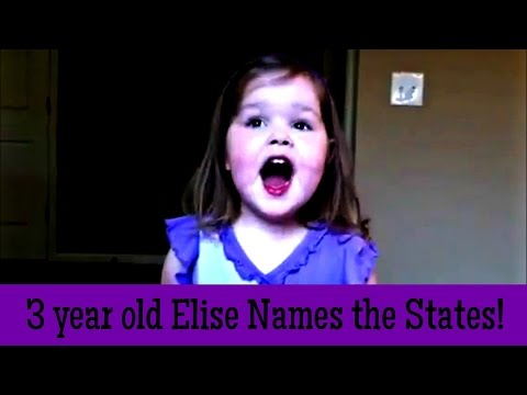 3 year old sings 50 Nifty United States Song funny ending