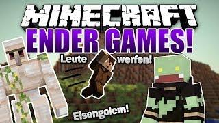 Einfach mal Spieler werfen :D - Eisengolem - Minecraft ENDER GAMES SERIE #32 | ungespielt