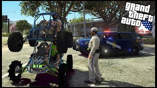 GTA 5 ROLEPLAY - GO KART RACING ENDS IN TROUBLE WITH COPS... - EP. 979 - AFG -  CIV