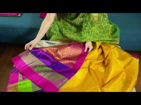Pure Silk Kanjivaram Saris | Latest Silk Saris | Saree Collection | Bengal Looms