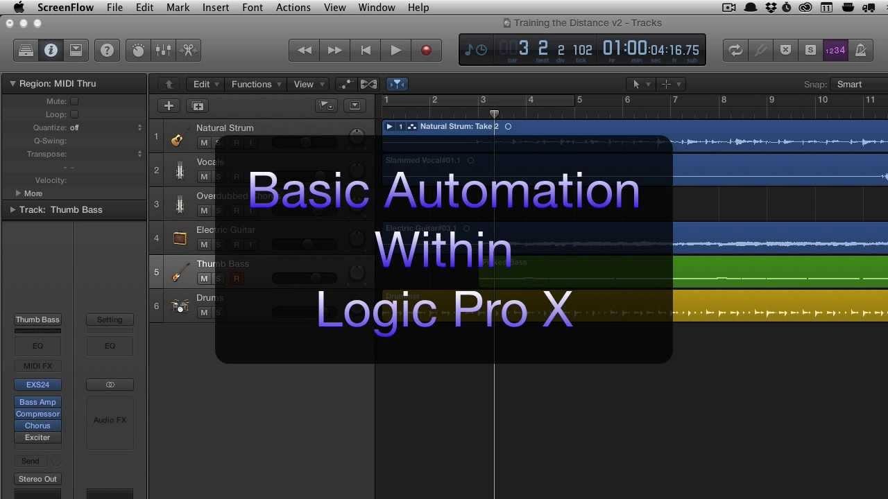 Logic pro x write automation
