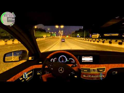 City Car Driving Mercedes Benz S65 AMG Street racing!