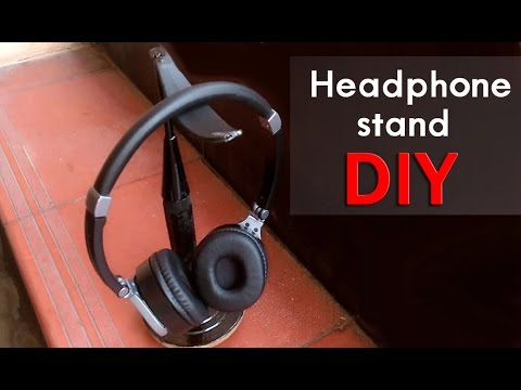 How to make headphone stand easily at home-DIY