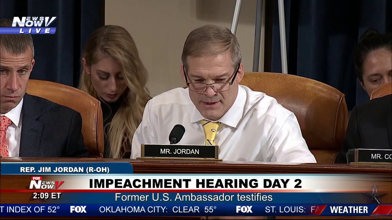 Jordan Questions Yovanovitch Day 2 Of The Impeachment Hearing