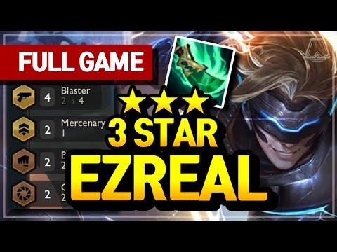 3 Star Ezreal Carry! (4 Blaster Comp) - Teamfight Tactics Full Game   TFT Galaxies
