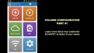 SCANPET - Lesson #4 - column configuration - part #1