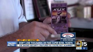 Don't get Scammed Know how to Spot a Fake Ticket
