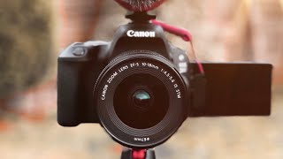 Canon SL2 (200D) BEST Beginner DSLR Vlogging Set Up | Rode Videomic Go