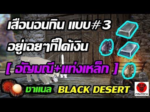 Black Desert Online : หาเงินแบบเสือนอนกิน#3 [ อยู่เฉยๆ ก็ได้เงิน ] - อัญมณี+แท่งเหล็ก