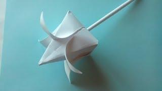 Тюльпаны из бумаги своими руками(Бумага: офисная А4, 80г/м²; Пропорции: делаем квадрат из листа А4; Сложено по схема: Tulip Traditional; Автор схемы: Marc..., 2014-02-18T17:11:27.000Z)