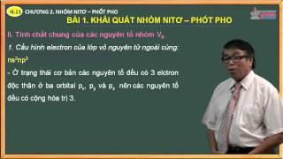 Bài giảng hóa 11 - Chương 2. Nhóm nito, photpho - Bài 1. Khái quát về nhóm nito và bài tập áp dụng