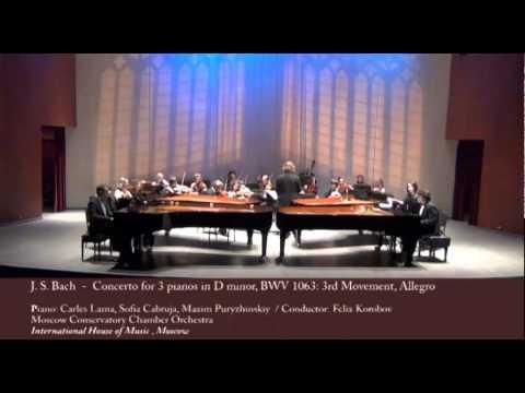 Carles & Sofia piano duo - Concerto for 3 pianos in D minor, BWV 1063: 3rd Movement, Allegro mp3