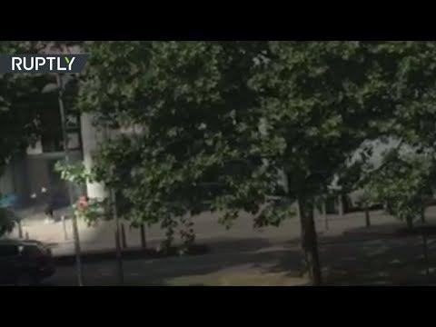 Момент ликвидации стрелка в бельгийском Льеже попал на видео