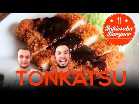 """Como fazer """"Tonkatsu (豚カツ)"""" Porco a Milanesa Japonês - #5 YAKISSOBA BURGUER"""